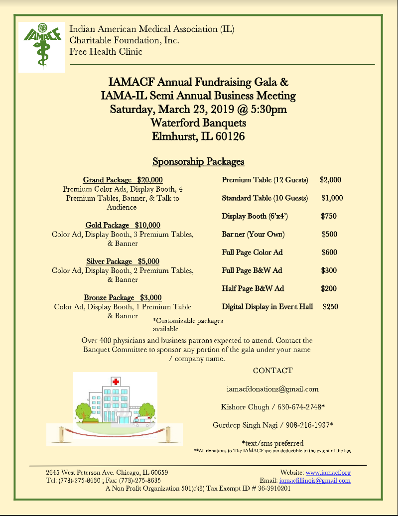 Indian American Medical Assoc-IL - Charitable Foundation